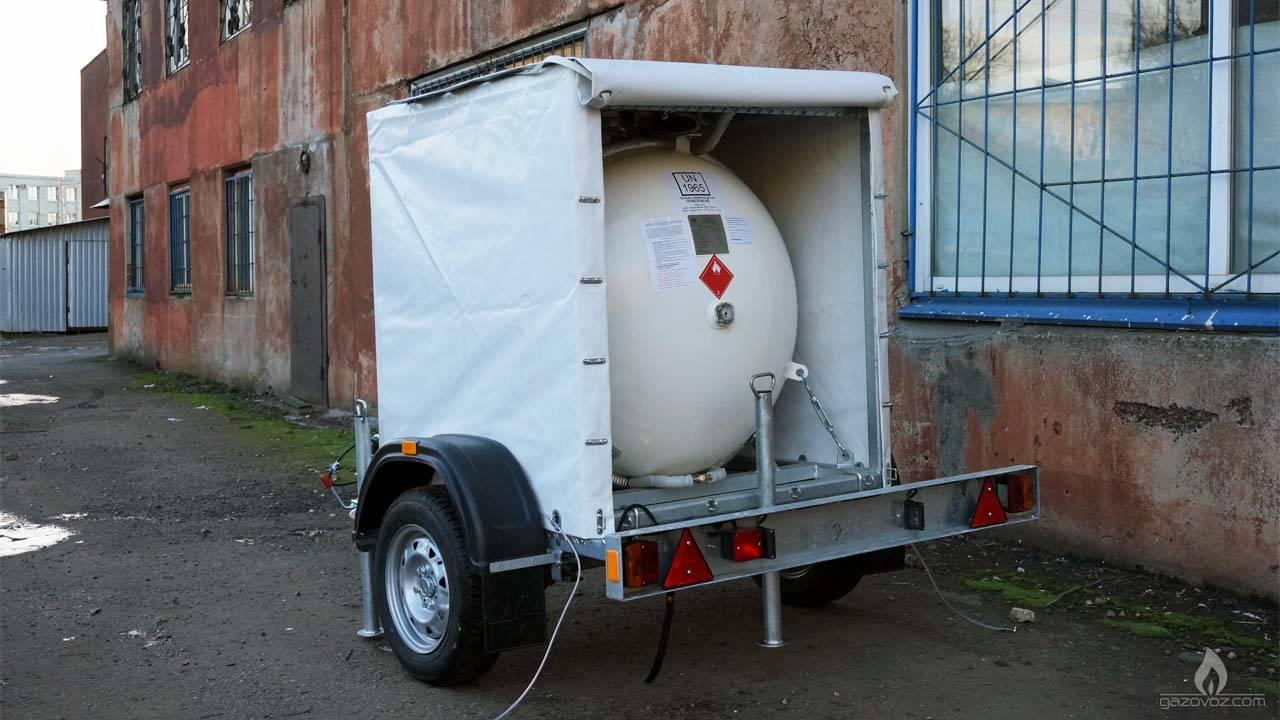 Мобильный газгольдер для отопления дома пропаном