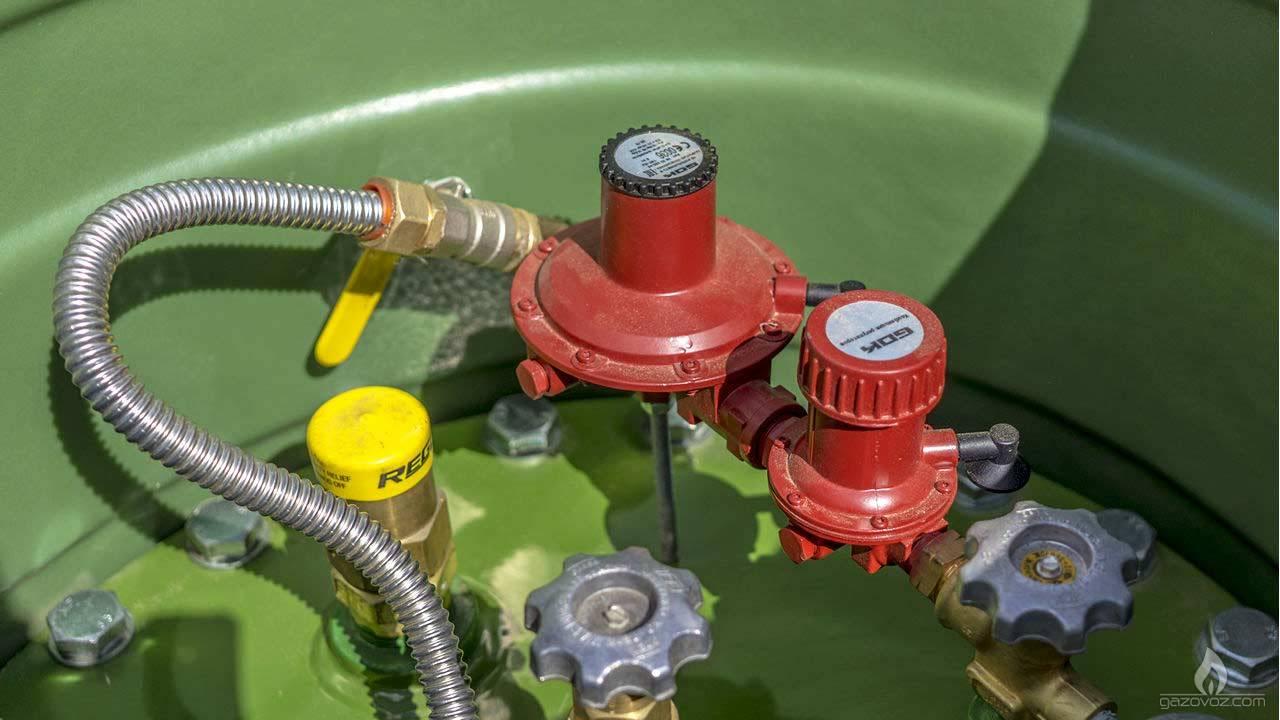 Двухступенчатый регулятор давления газа GOK для газгольдеров